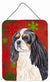 Cavalier Spaniel Red Snowflakes Holiday Christmas Wall or Door Hanging Prints by Caroline's Treasures
