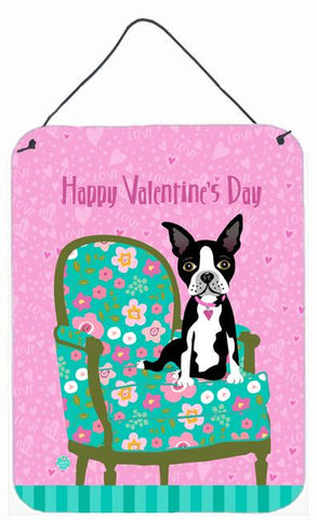 Buy this Happy Valentine's Day Boston Terrier Wall or Door Hanging Prints VHA3001DS1216