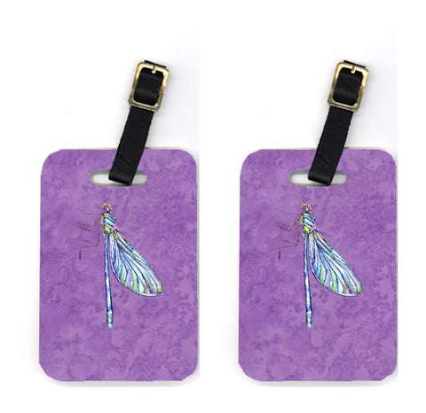Buy this Pair of Dragonfly on Purple Luggage Tags