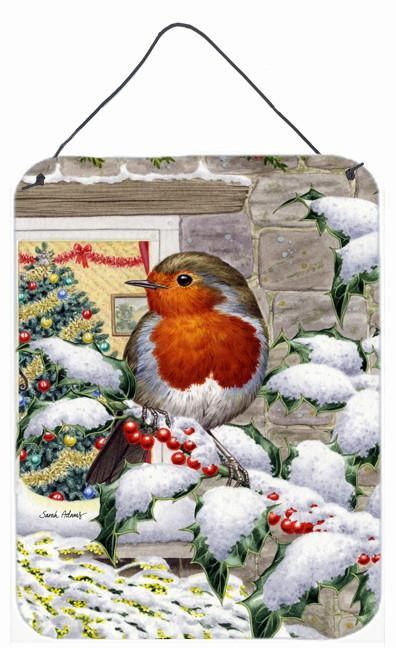 European Robin at the Window Wall or Door Hanging Prints ASA2089DS1216 by Caroline's Treasures