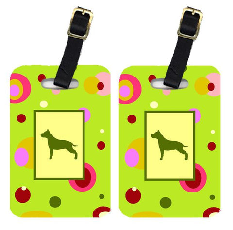 Buy this Pair of 2 Staffie Luggage Tags