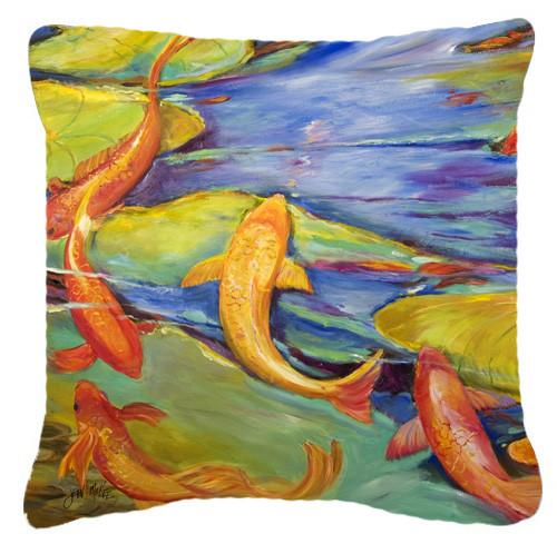 Buy this Koi Canvas Fabric Decorative Pillow JMK1263PW1414