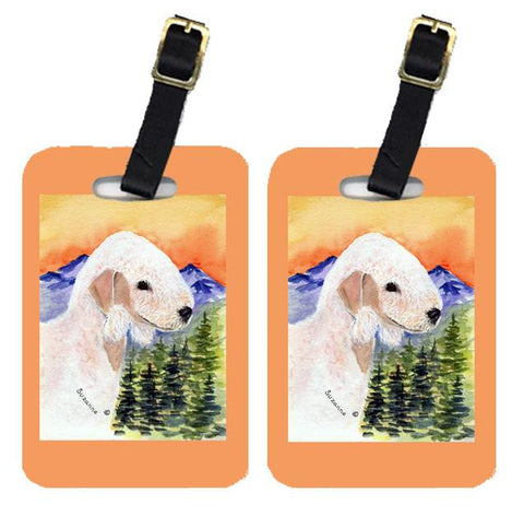 Buy this Pair of 2 Bedlington Terrier Luggage Tags