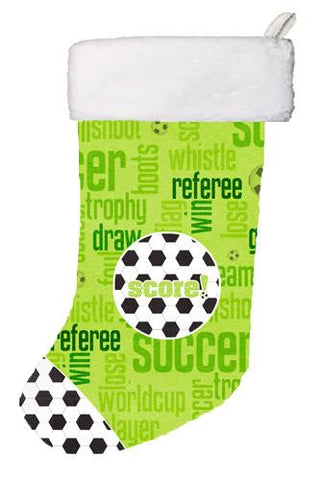 Buy this Soccer Score Christmas Stocking SB3154-CS