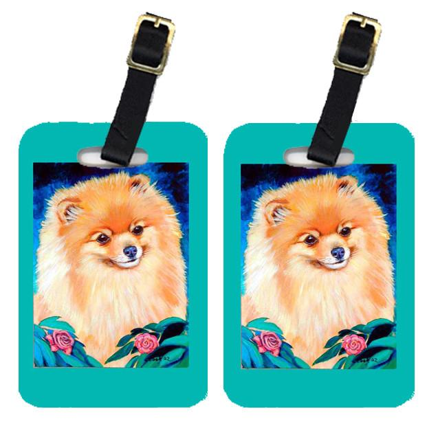 Pair of 2 Pomeranian Garden Bud Luggage Tags by Caroline's Treasures