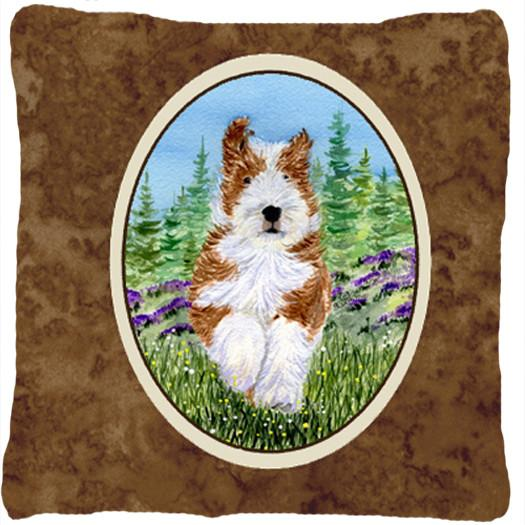 Bearded Collie Decorative   Canvas Fabric Pillow by Caroline's Treasures