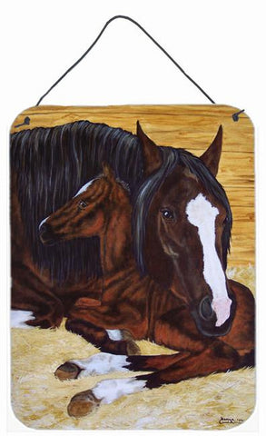 Buy this Bay Mare Foal Horse Wall or Door Hanging Prints AMB1236DS1216