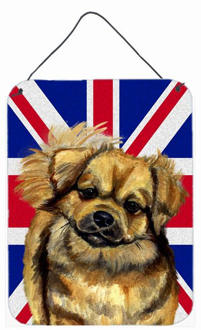 Buy this Tibetan Spaniel with English Union Jack British Flag Wall or Door Hanging Prints LH9499DS1216