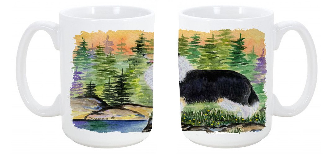Collie Dishwasher Safe Microwavable Ceramic Coffee Mug 15 ounce SS8203CM15 by Caroline's Treasures