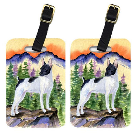 Buy this Pair of 2 Rat Terrier Luggage Tags