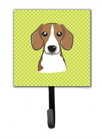 Buy this Checkerboard Lime Green Beagle Leash or Key Holder BB1301SH4