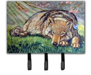 Buy this Wolf and Hummingbird Leash or Key Holder 7356TH68