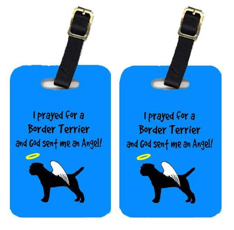 Buy this Pair of 2 Border Terrier Luggage Tags