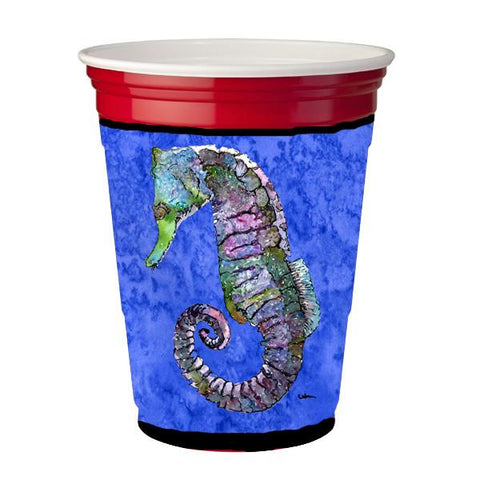 Buy this Seahorse Purple and Blue Red Solo Cup Beverage Insulator Hugger