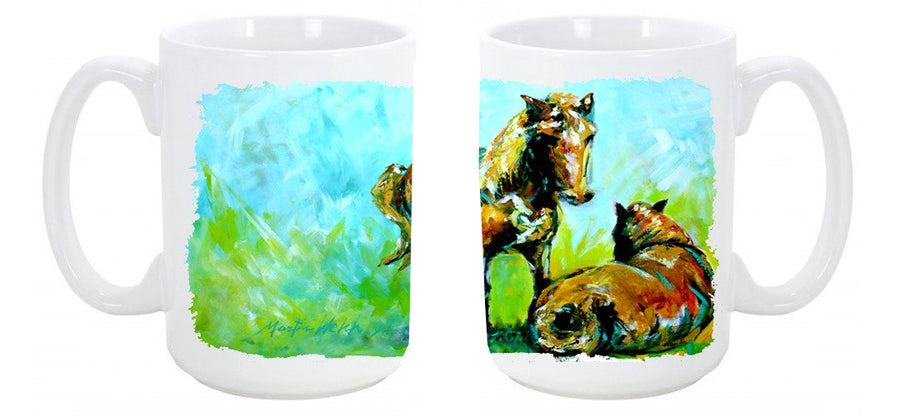Buy this Horse Grazin Dishwasher Safe Microwavable Ceramic Coffee Mug 15 ounce MW1126CM15