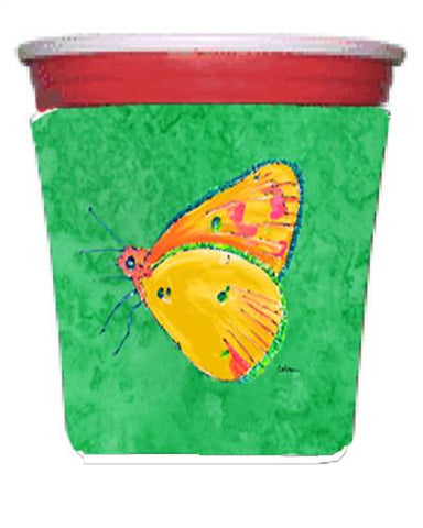 Buy this Butterfly Orange on Green Red Solo Cup Beverage Insulator Hugger