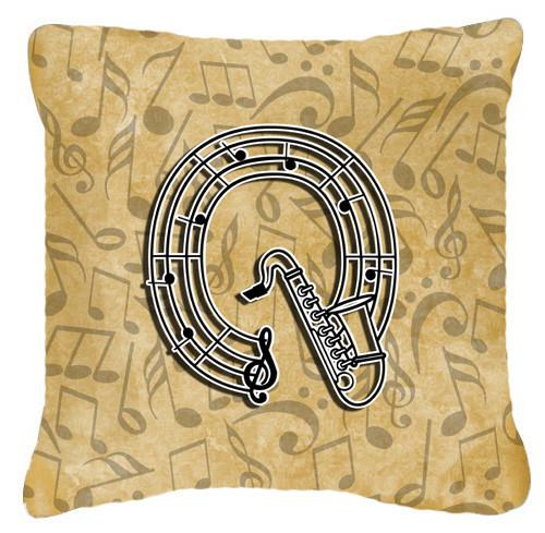 Letter Q Musical Instrument Alphabet Canvas Fabric Decorative Pillow CJ2004-QPW1414 by Caroline's Treasures