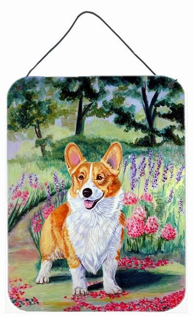 Buy this Corgi Springtime in the Garden Aluminium Metal Wall or Door Hanging Prints