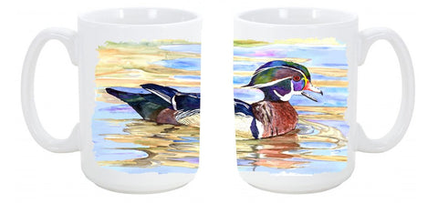 Buy this Wood Duck Dishwasher Safe Microwavable Ceramic Coffee Mug 15 ounce 8831CM15
