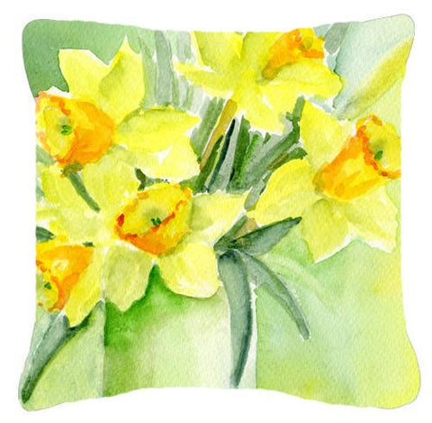 Buy this Daffodils by Maureen Bonfield Canvas Decorative Pillow BMBO970APW1414