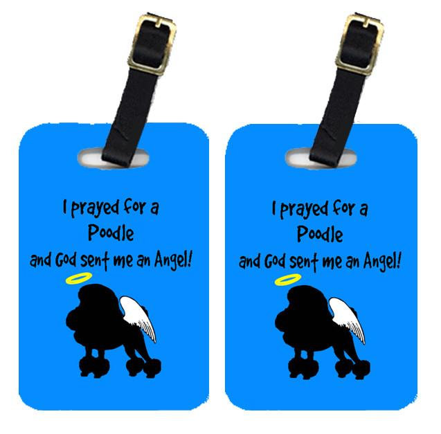 Pair of 2 Poodle Luggage Tags by Caroline's Treasures