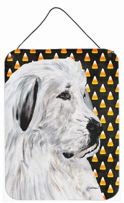 Great Pyrenees Candy Corn Halloween Wall or Door Hanging Prints SC9666DS1216 by Caroline's Treasures