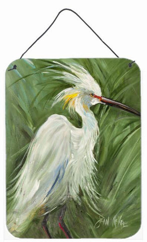 Buy this White Egret in Green grasses Wall or Door Hanging Prints JMK1141DS1216