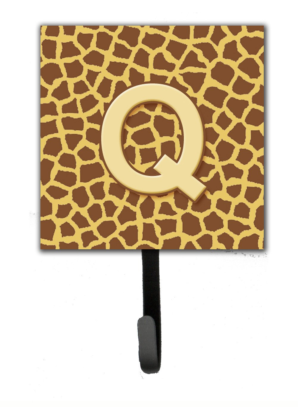 Buy this Letter Q Initial Monogram - Giraffe Leash Holder or Key Hook