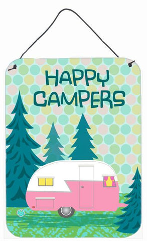 Buy this Happy Campers Glamping Trailer Wall or Door Hanging Prints VHA3004DS1216