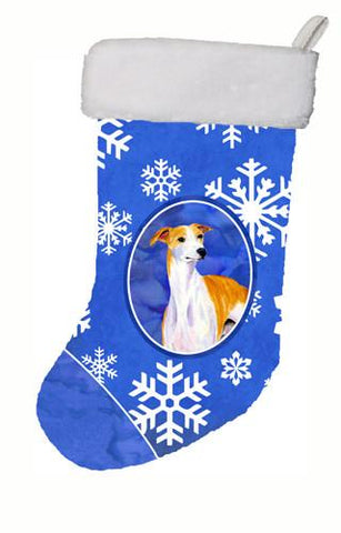 Buy this Whippet Winter Snowflakes Snowflakes Holiday Christmas Stocking