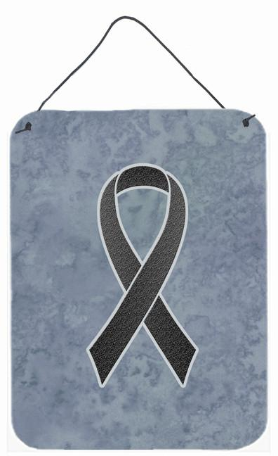 Black Ribbon for Melanoma Cancer Awareness Wall or Door Hanging Prints AN1216DS1216 by Caroline's Treasures