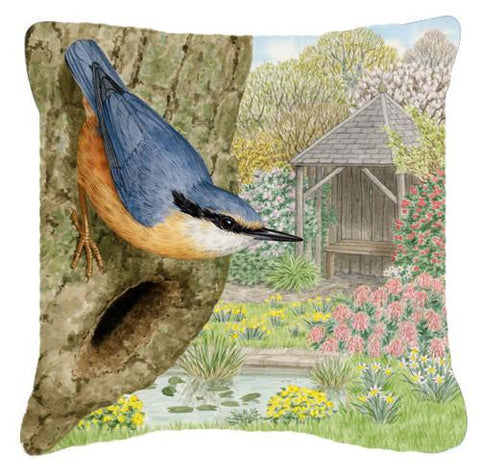 Buy this Nuthatch by Sarah Adams Canvas Decorative Pillow ASAD0696PW1414