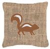 Skunk Burlap and Brown   Canvas Fabric Decorative Pillow BB1125 - the-store.com