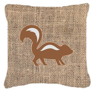 Buy this Skunk Burlap and Brown   Canvas Fabric Decorative Pillow BB1125