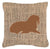 Walrus Burlap and Brown   Canvas Fabric Decorative Pillow BB1017 by Caroline's Treasures