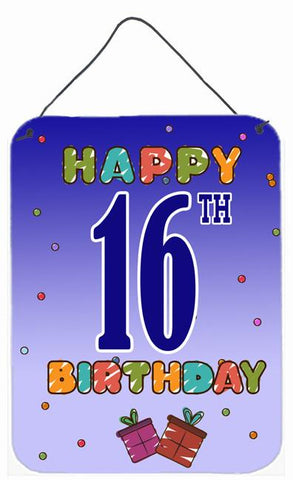 Buy this Happy 16th Birthday Wall or Door Hanging Prints CJ1107DS1216