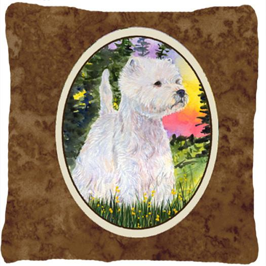 Buy this Westie Decorative   Canvas Fabric Pillow