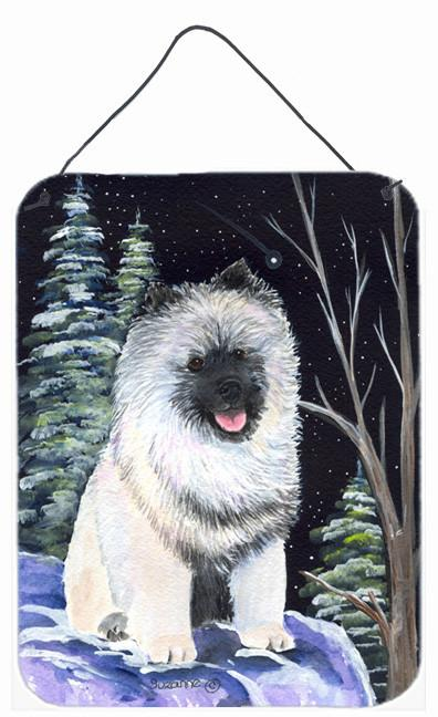Buy this Starry Night Keeshond Aluminium Metal Wall or Door Hanging Prints