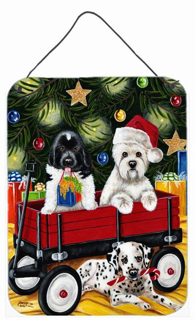 Christmas Westie, Newfoundland, Dalmatian Wall or Door Hanging Prints AMB1445DS1216 by Caroline's Treasures