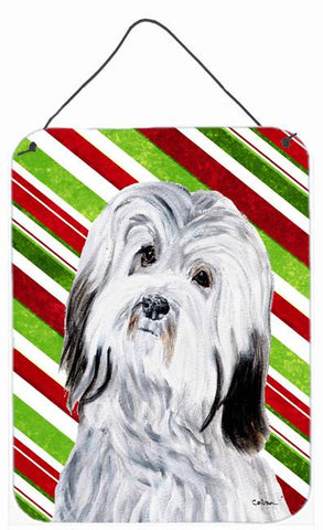 Buy this Havanese Candy Cane Christmas Wall or Door Hanging Prints SC9809DS1216