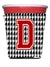 Buy this Monogram - Houndstooth  Initial  D Red Solo Cup Beverage Insulator Hugger CJ1021D-RSC