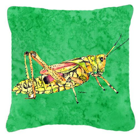 Buy this Grasshopper on Green   Canvas Fabric Decorative Pillow