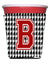 Buy this Monogram - Houndstooth  Initial  B Red Solo Cup Beverage Insulator Hugger CJ1021B-RSC