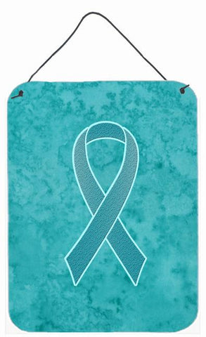 Buy this Teal Ribbon for Ovarian Cancer Awareness Wall or Door Hanging Prints AN1201DS1216