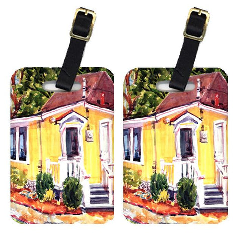 Buy this Pair of 2 Yellow Cottage Houses Luggage Tags