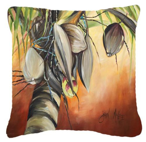 Orange Coconut Tree Canvas Fabric Decorative Pillow JMK1280PW1414 by Caroline's Treasures