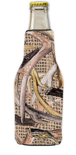 Buy this Deer Horns  Longneck Beer Beverage Insulator Hugger with Zipper