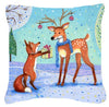Christmas Present from the Fox Canvas Decorative Pillow CDCO0416PW1414 - the-store.com