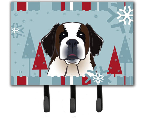 Buy this Winter Holiday Saint Bernard Leash or Key Holder BB1742TH68