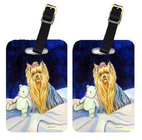 Buy this Pair of 2 Yorkie and Teddy Bear Luggage Tags